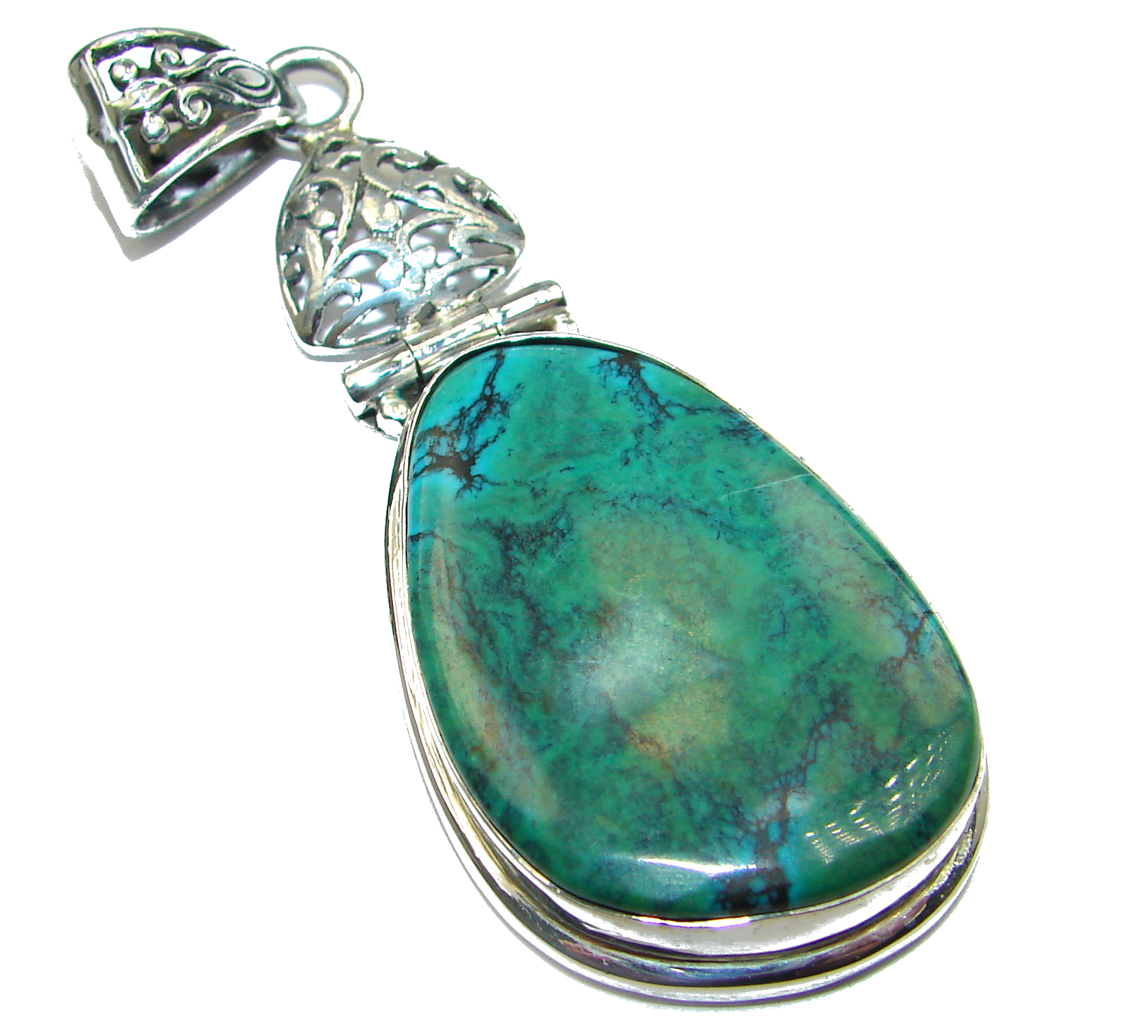 Carico Lake Royston Turquoise .925 Sterling Silver handcrafted pendant
