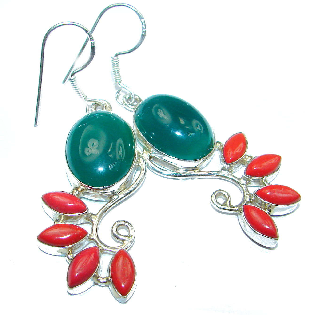 Authentic Agate   .925 Sterling Silver handmade earrings