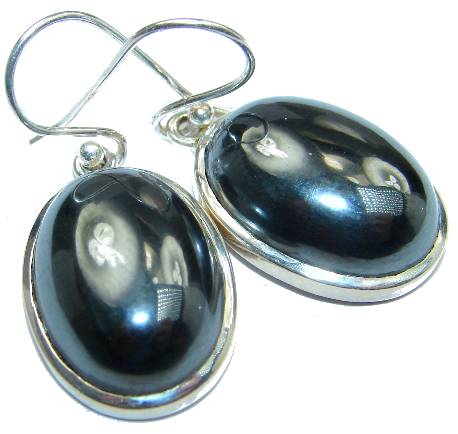 Perfect Hematite .925 Sterling Silver handmade earrings