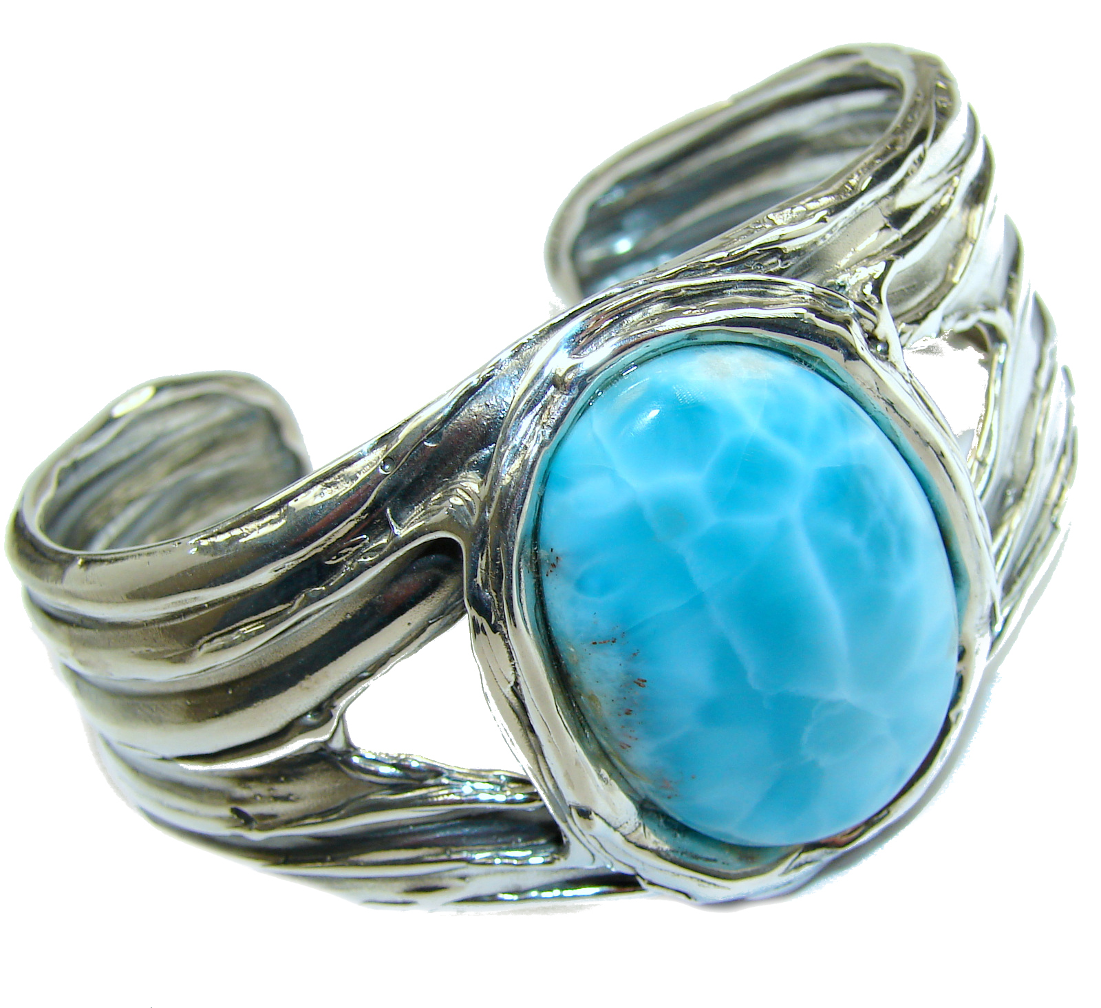 Beauty_of_Nature__Blue_Larimar_.925_Sterling_Silver_handcrafted_Bracelet___Cuff