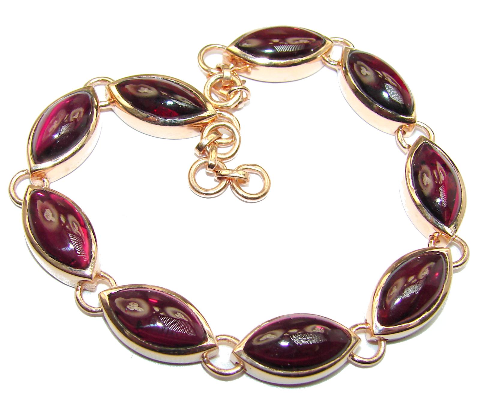 Secret Beauty authentic Garnet Rose Gold over .925 Sterling Silver handcrafted Bracelet