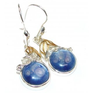 Kyanite 14K Gold over .925 Sterling Silver handcrafted earrings