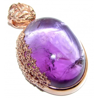 Spectacular Amethyst 18K Gold over .925 Sterling Silver handcrafted pendant
