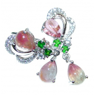 Stunning Authentic Tourmaline .925 Sterling Silver handmade earrings