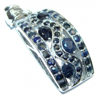 Real Beauty genuine Sapphire .925 Sterling Silver handmade Pendant