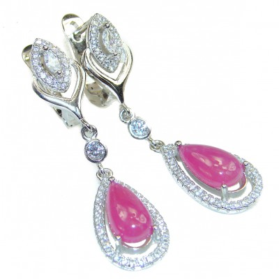 Carmen authentic Ruby .925 Sterling Silver handmade earrings