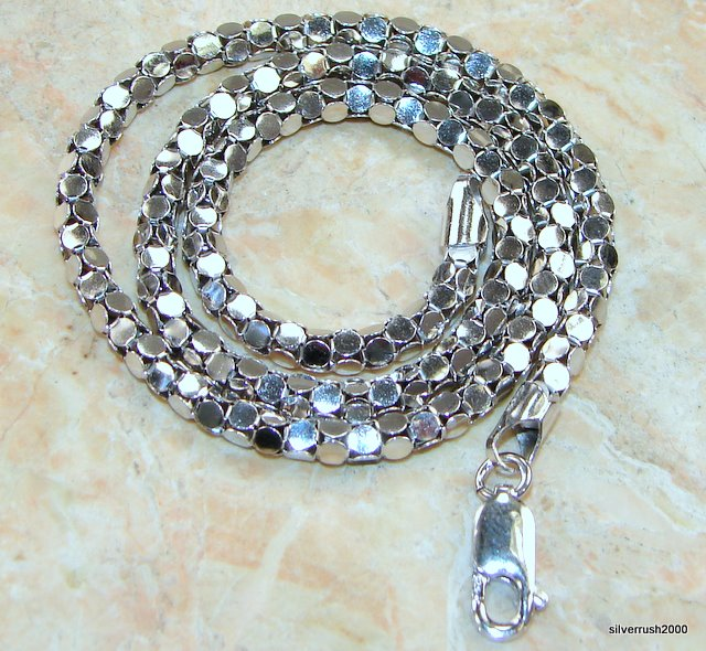 "Image of Sterling Silver Rodium Coreana Chain 16"" long  4 mm wide"