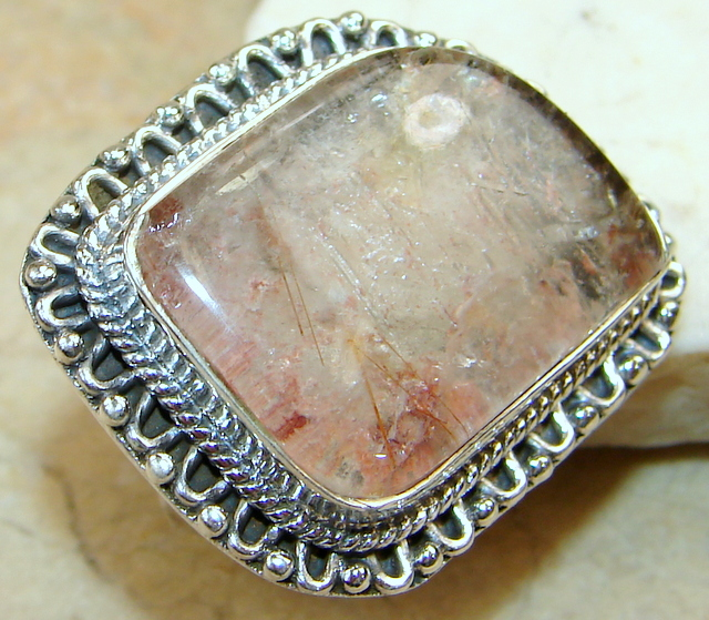 SilverRush Style Sandstone Quartz Sterling Silver Ring