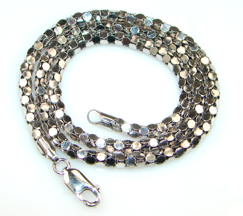 Image of Awesome Sterling Coreana Chain 16 inch long  4 mm wide