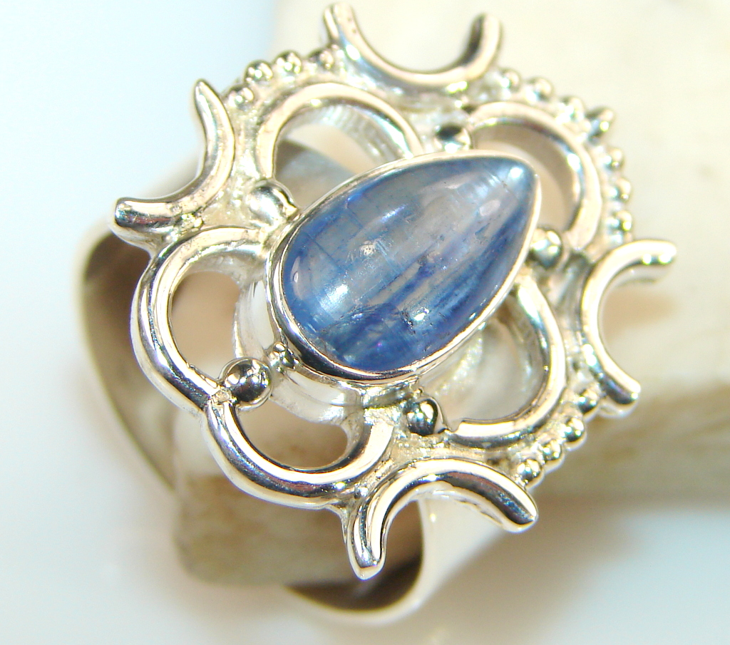 Magnificent Lapis Lazuli Sterling Silver Ring s. 8 3/4