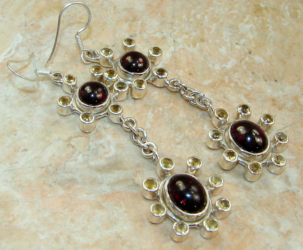 Sweet Spirit Brown Tourmaline Sterling Silver Earrings