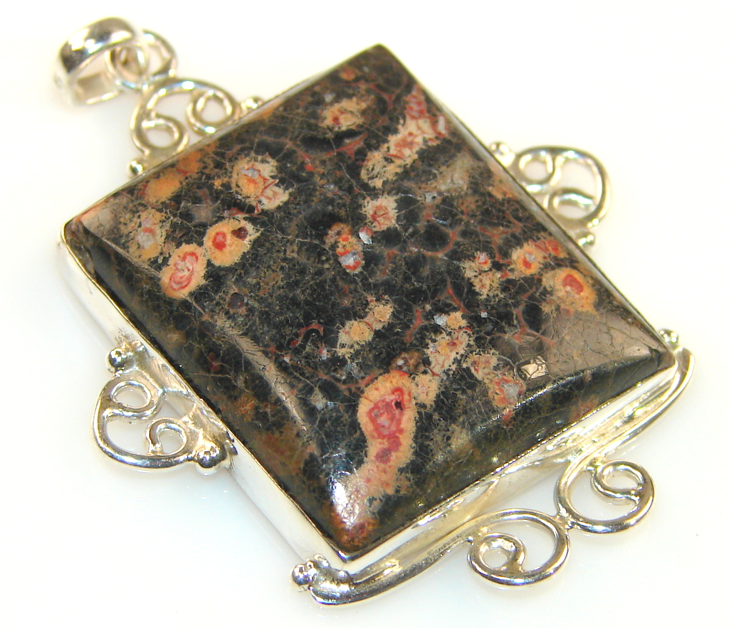 Image of Vintage Of Crinoid Fossil Sterling Silver Pendant