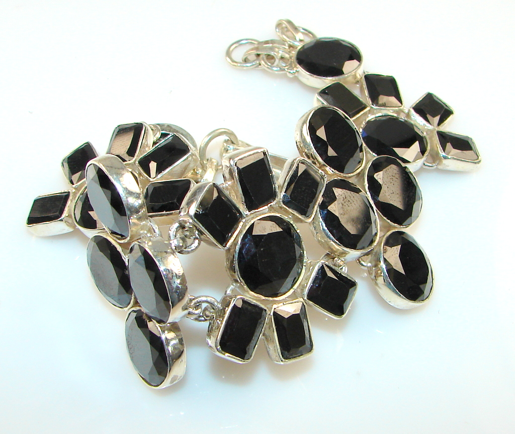 Beautiful Black Onyx Sterling Silver Bracelet
