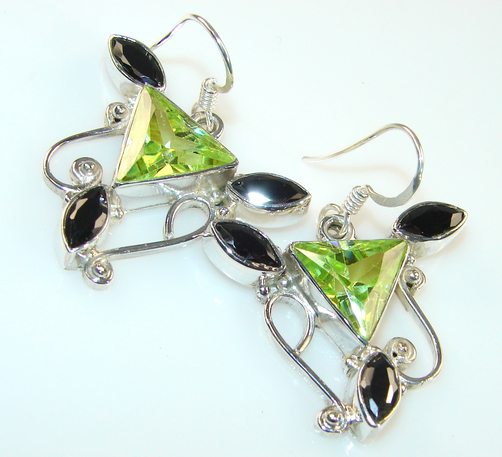 Excellent Quality Of Black Onyx Sterling Silver earrings