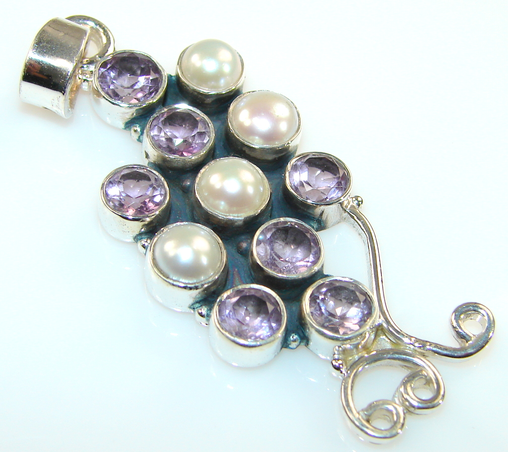 Image of Marvelous Multistone Sterling Silver Pendant