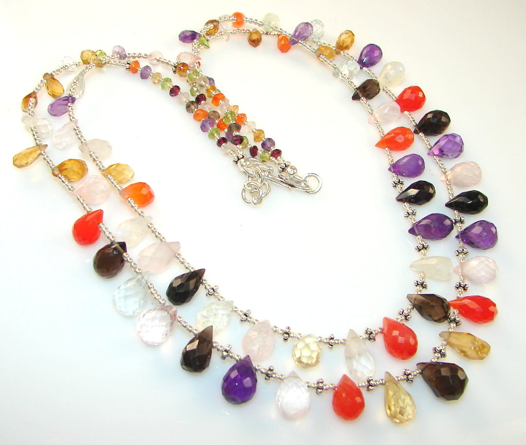 Image of Marvelous Multistone Sterling Silver necklace