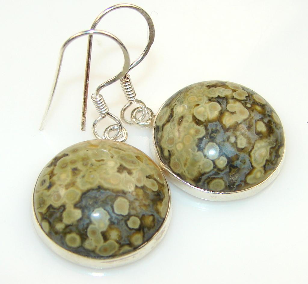 Beauty Ocean Jasper & Sterling Silver earrings