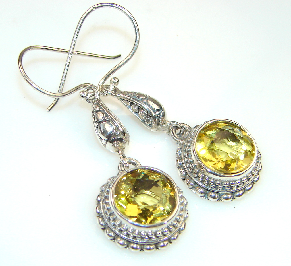 Beautiful Citrine & Sterling Silver earrings