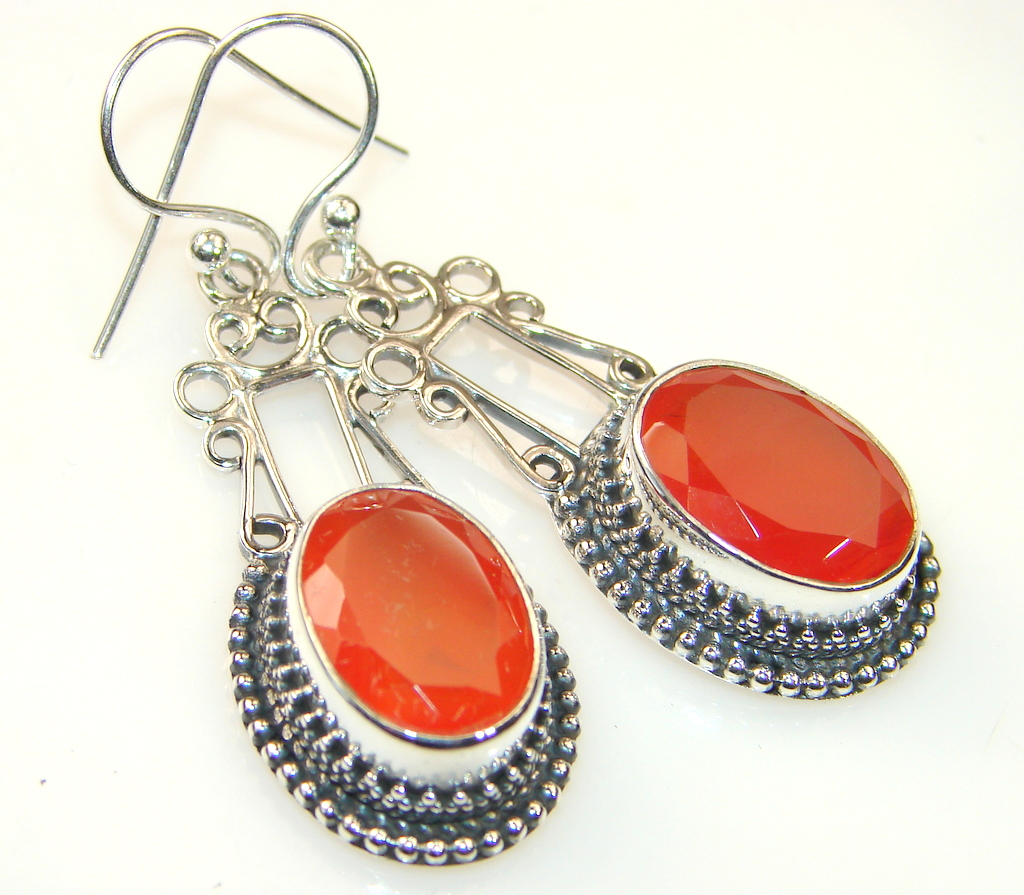 Beautiful Carnelian Sterling Silver earrings