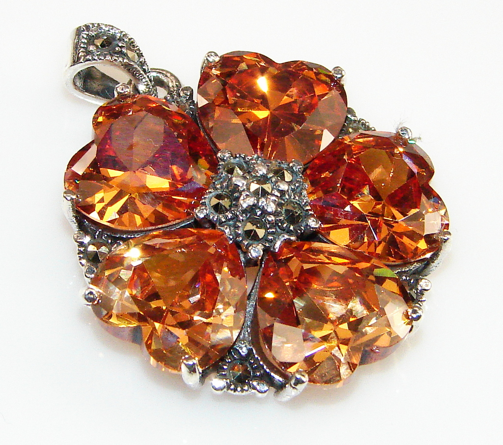 Royal Golden Topaz Sterling Silver Pendant