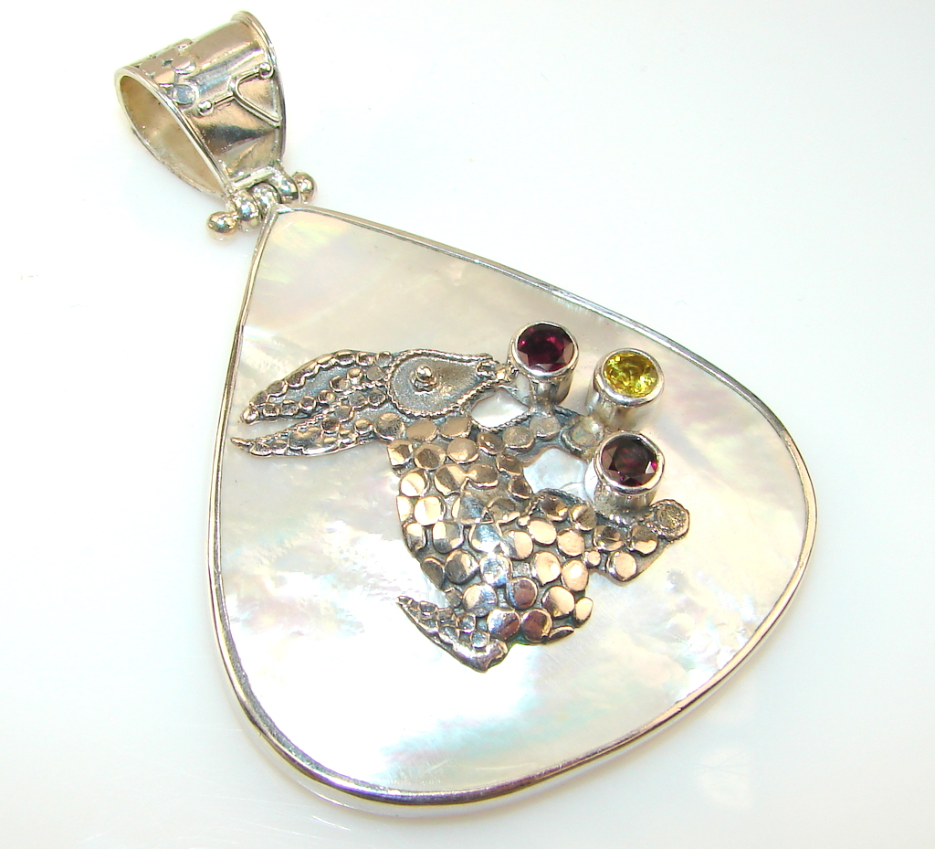 Image of Great Rabbit Blister Pearl Sterling Silver pendant