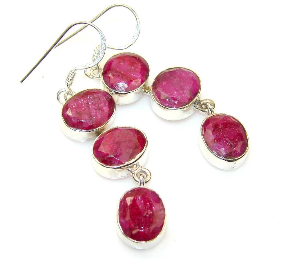Fabulous Ruby Sterling Silver earrings