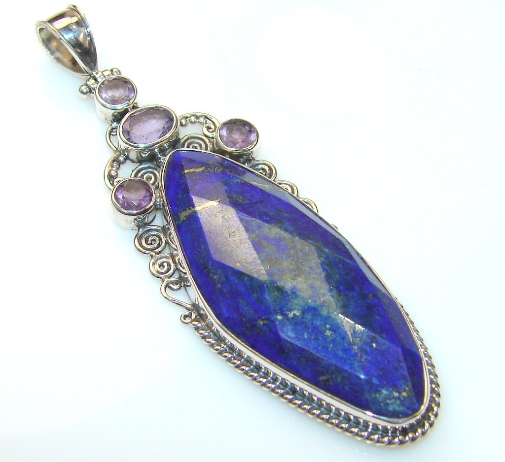 Just Perfect Lapis Lazuli Sterling Silver Pendant