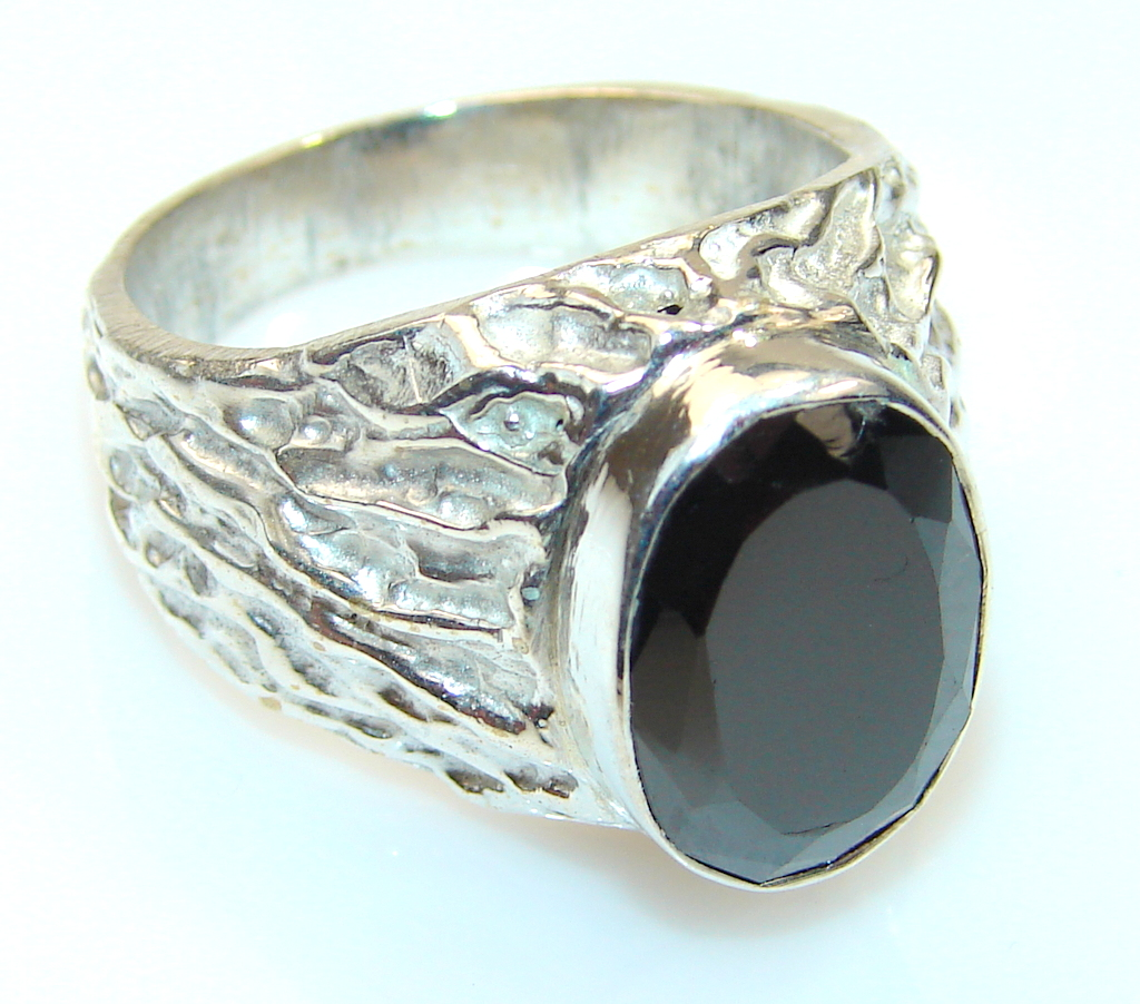 Magnificent Color Of Hematite Sterling Silver Ring s. 7 3/4