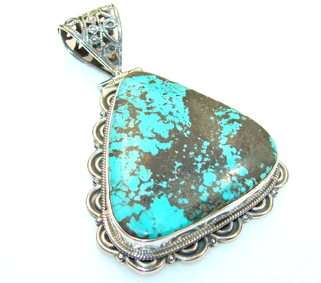 Beauty Turquoise Sterling Silver Pendant