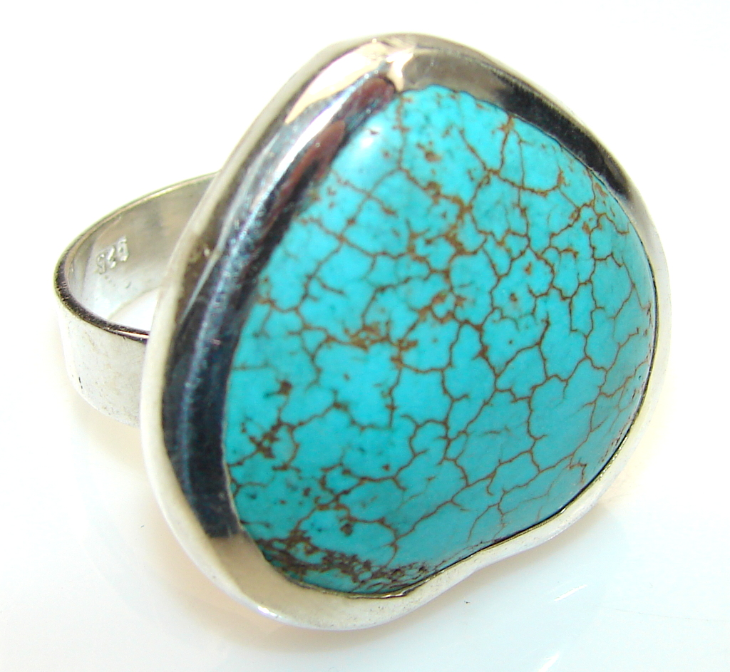 Azure Fruit Turquoise Sterling Silver ring s. 10