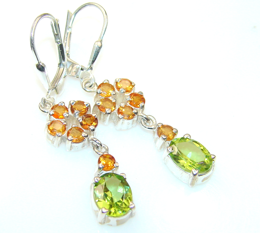 Image of Classy Lady Honey Topaz Sterling Silver earrings