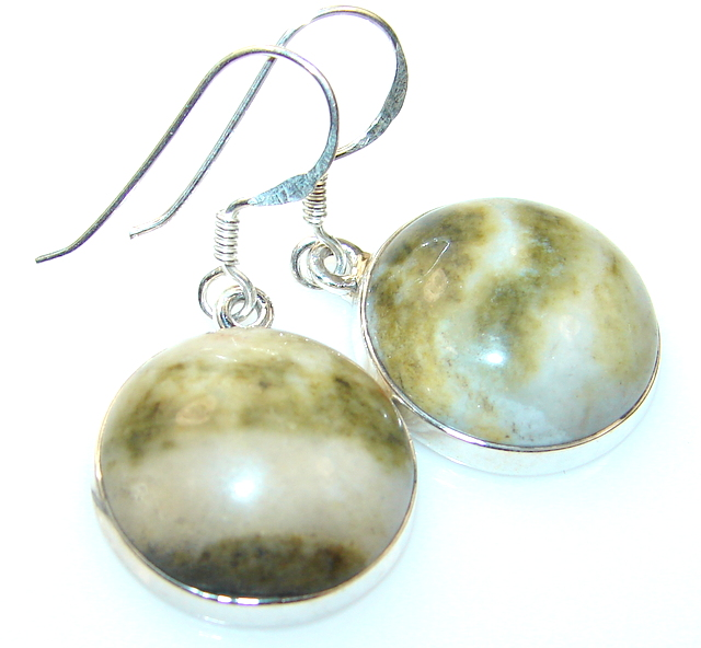 Amazinig Landscape Jasper Sterling Silver earrings