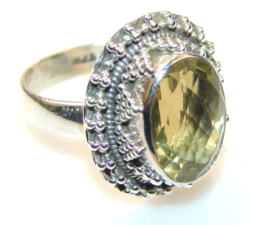 Natural Citrine Sterling Silver ring