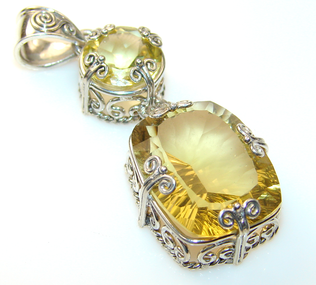 Image of Fabulous Citrine Sterling Silver Pendant
