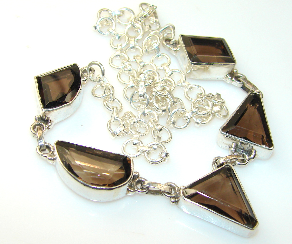 Image of Inca Dream Smoky Topaz Sterling Silver necklace