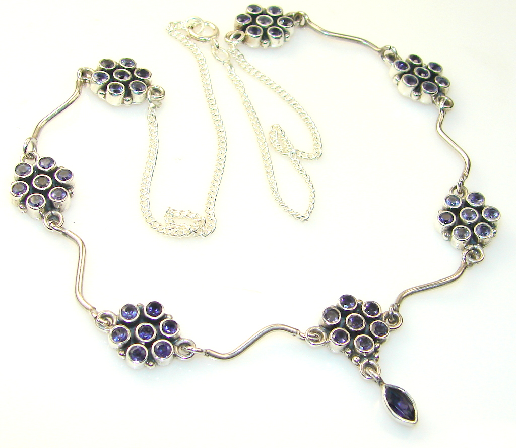 Image of Paradise Bloom Amethyst Sterling Silver Necklace