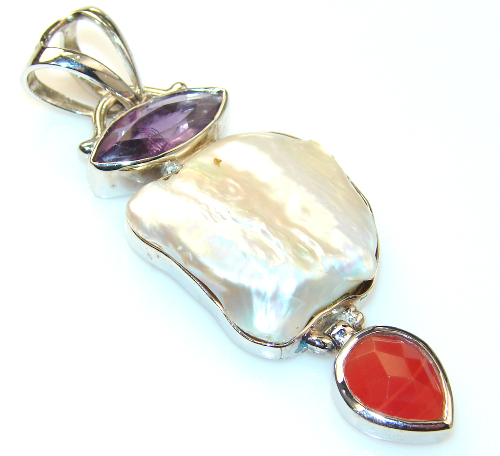 Artisan Design Blister Pearl Sterling Silver pendant