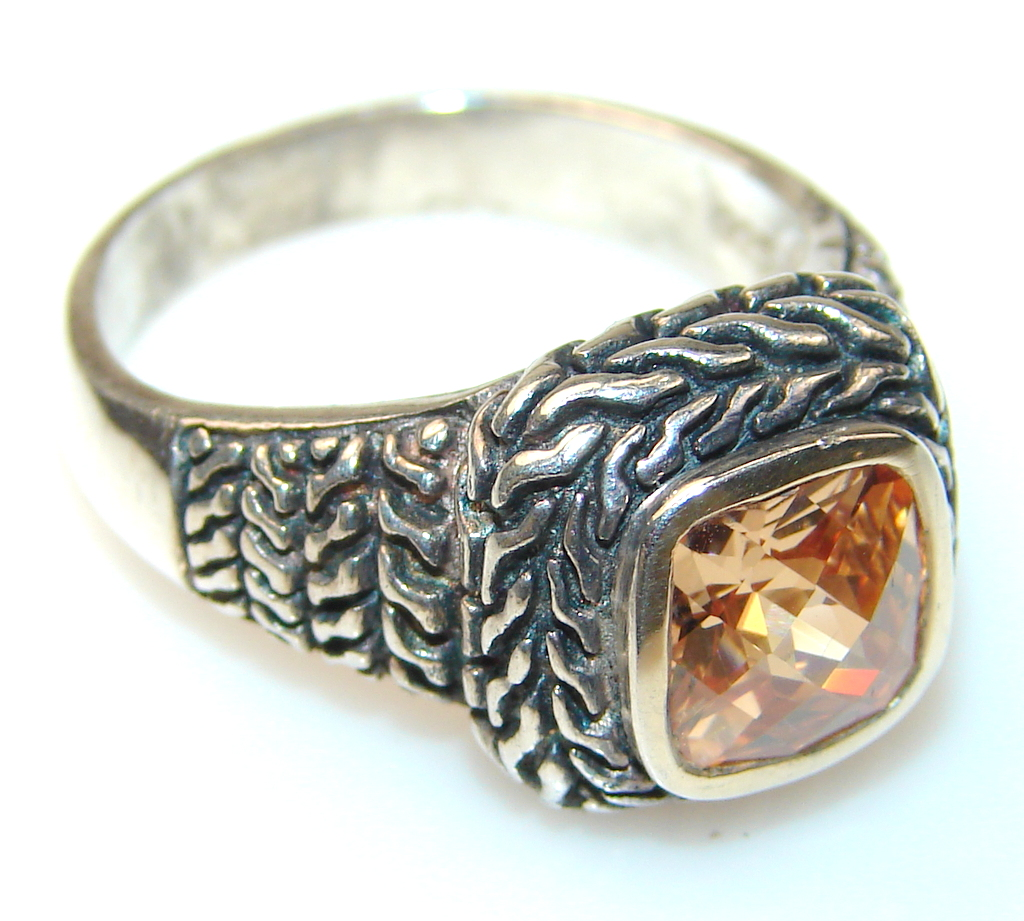 Basics Golden Topaz Sterling Silver Ring s. 9