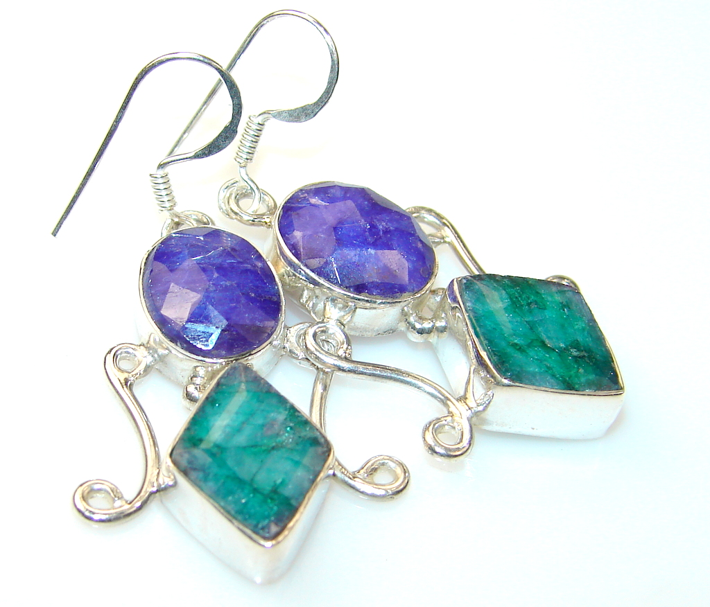 Passion Emerald Sterling Silver earrings
