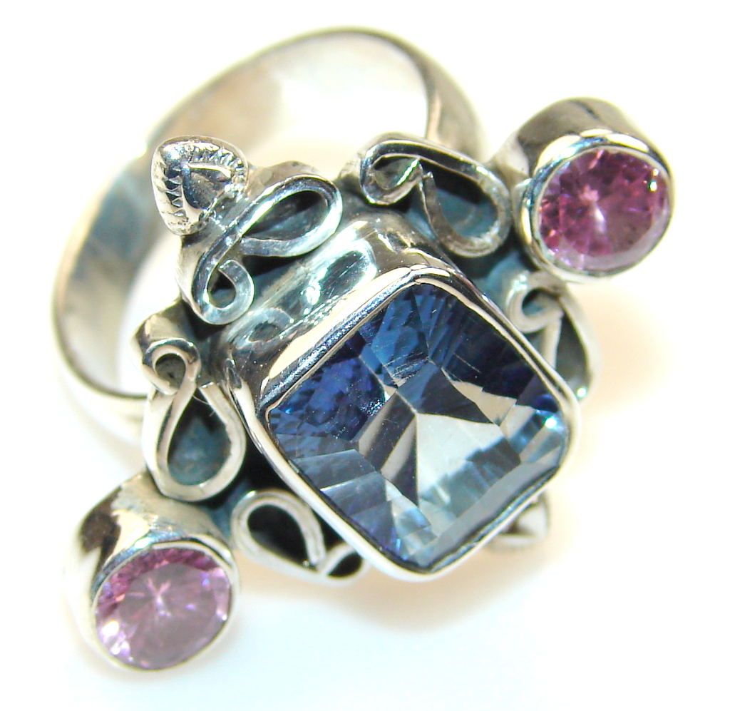 Image of Precious Magic Topaz Sterling Silver Ring s. 9