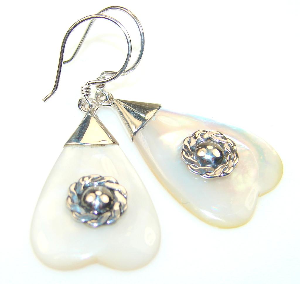 Image of Fabulous Blister Pearl Sterling Silver Earrings