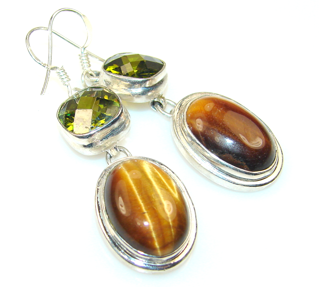 Image of Vision Tigers Eye Sterling Silver earrings