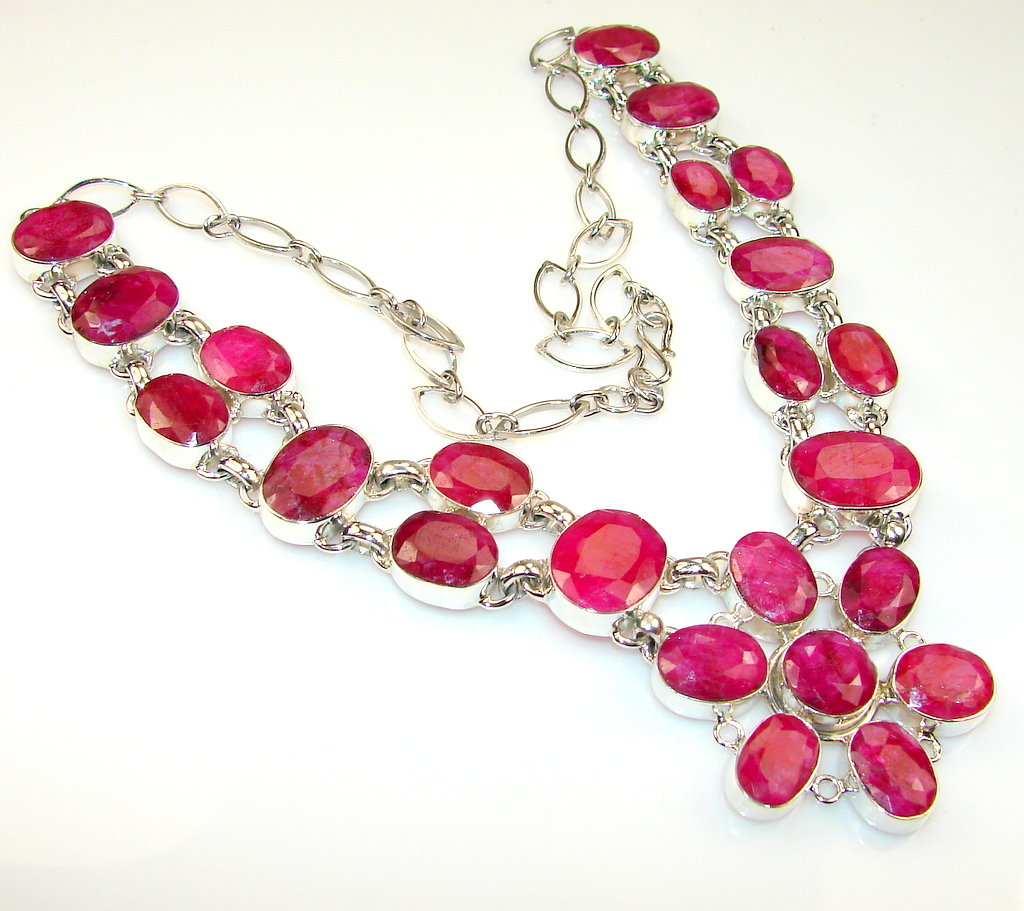 Friendship Ruby Sterling Silver necklace