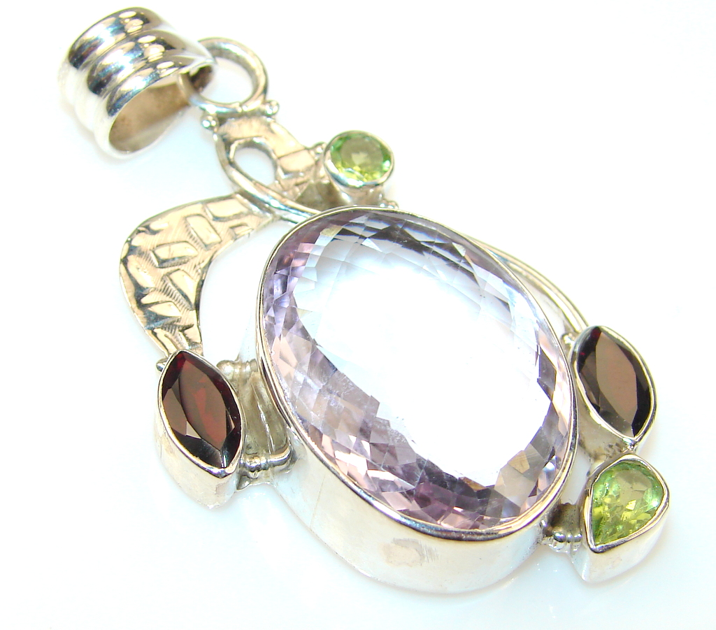 Amazing Amethyst Sterling Silver Pendant