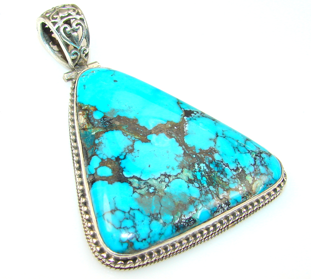 Amazing Turquoise Sterling Silver Pendant