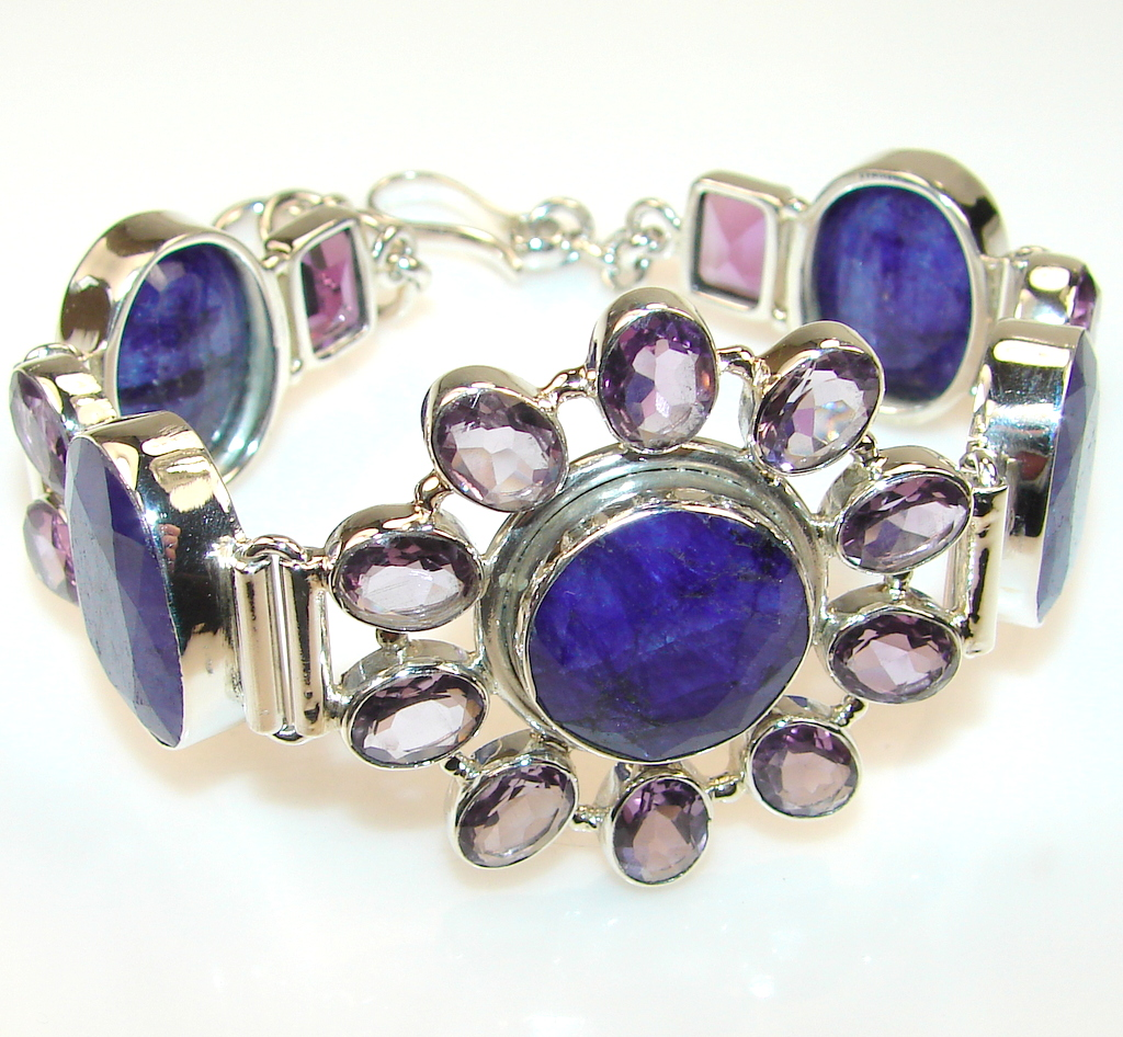 Delicate Sapphire Sterling Silver Bracelet