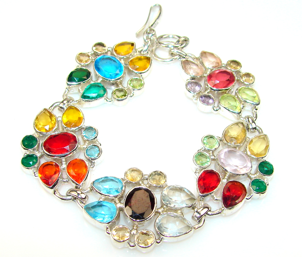 Image of Inca Dream Multigem Sterling Silver Bracelet