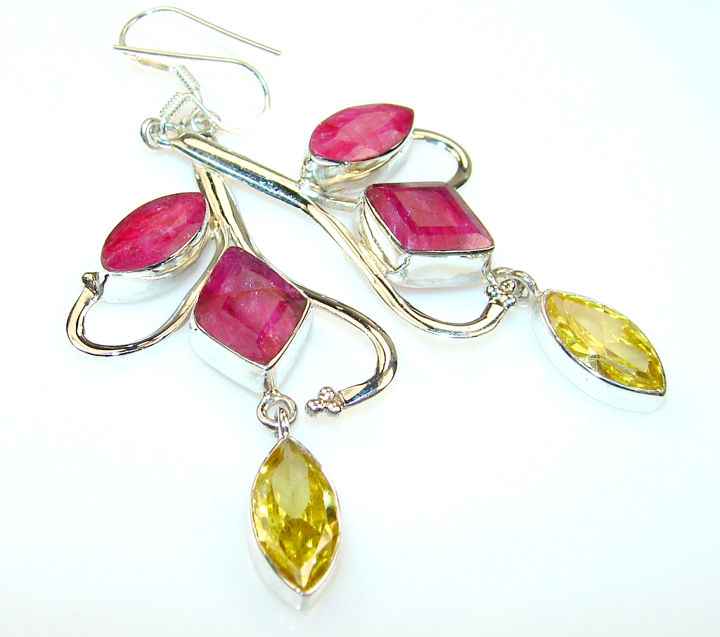 Friendship Ruby Sterling Silver earrings