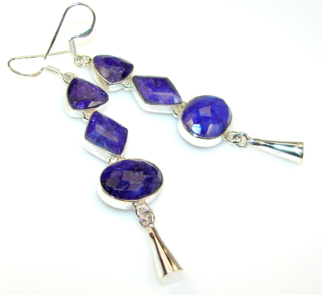 Beautiful Sapphire Sterling Silver earrings