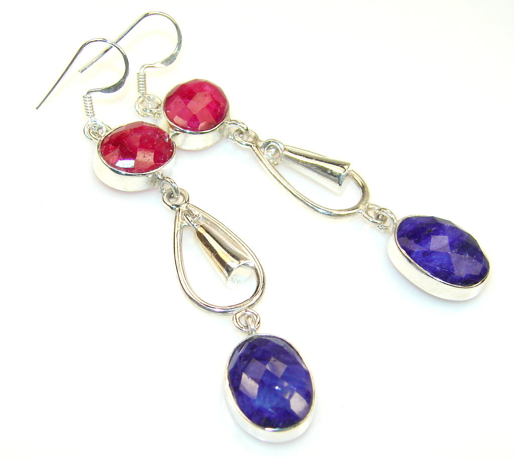Fantasy Sapphire Sterling Silver earrings